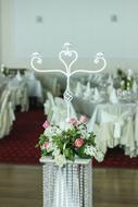 beautiful white decorations for a wedding