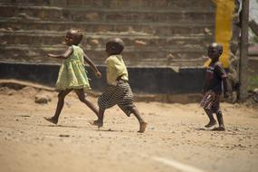 photo of african children outdoors