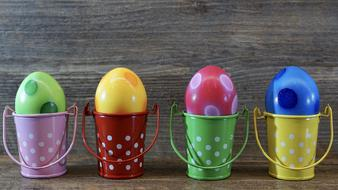 Easter Egg Colorful iron buckets