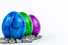 Easter Eggs colors green blue purple