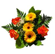 Flowers Bouquet Birthday yellow red