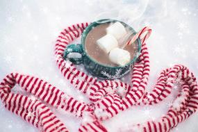 Hot Chocolate Snow Scarf red