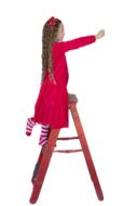 Christmas Child Girl red dress