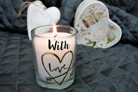 Valentine'S Day Heart candle