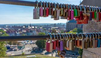 Love Fence Padlocks colors