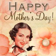 happy mother's day greeting card vintage drawing
