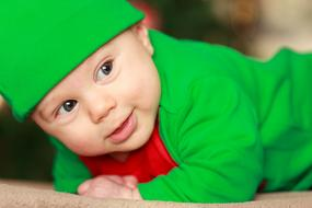 Boy Child Christmas green costume