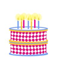 clipart birthday cake colorful