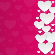 background hearts white pink