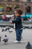Baby and Pigeons