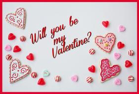 will you be my valentine border decoration