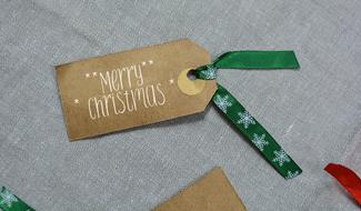 Merry Christmas Label paper
