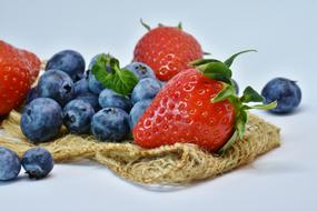 strawberries and blueberries as healthy food