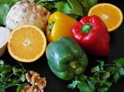 green Paprika Salad and orange