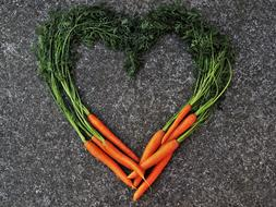 carrots as a heart