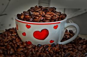 Coffee Beans Cup heart