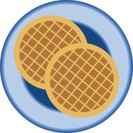 graphic waffle breakfast drawing