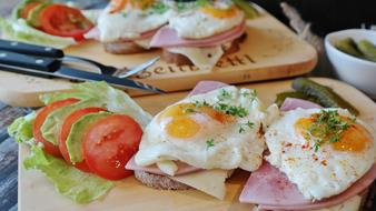 Fried Eggs Bread
