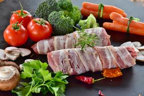 pork with fresh vegetables