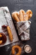 churros in the newspaper as dessert