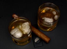 Whisky Drink ice