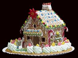 gingerbread house cake