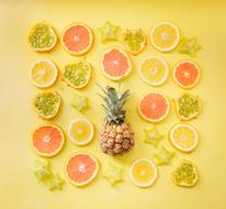Orange Lemon Pineapple set