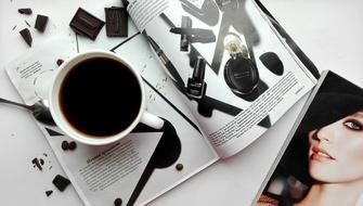 Coffee Drinks and Magazine