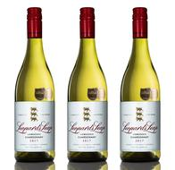 three bottles of Leopard's Leap's Chardonnay