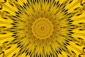 psychedelic yellow pattern