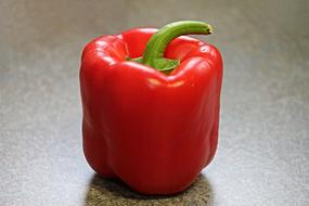 photo of red pepper on the kitchen table