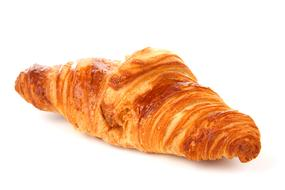 just baked croissant at white Background