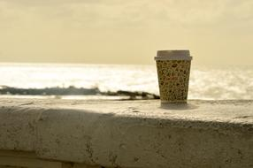Beach Sea and cup