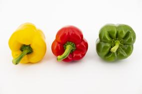 Paprika Vegetables red green yellow