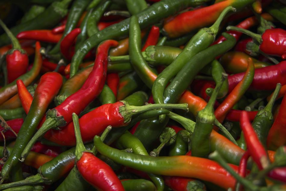 Pepper Chilli Spicy red green