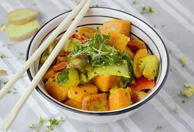 stewed vegetables with Thai curry