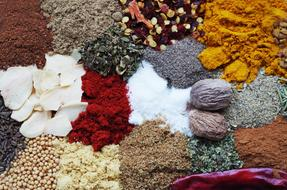 colorful fragrant spices