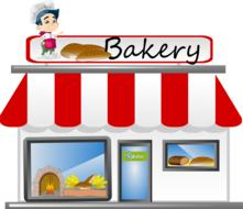 bakery bread shop drawing