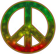 peace green red orange sign drawing