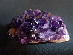 photo of crystals of purple amethyst