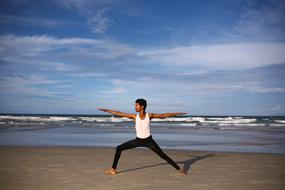 Yoga Indian Guy sea
