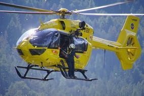 yellow Helicopter Civil Protection