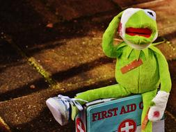 Kermit with First Aid