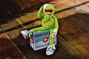 green frog Kermit First Aid toy