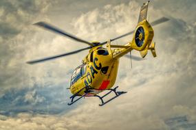 yellow Adac Helicopter Rescue sky