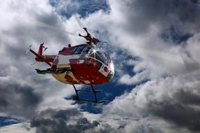 Rescue Helicopter sky