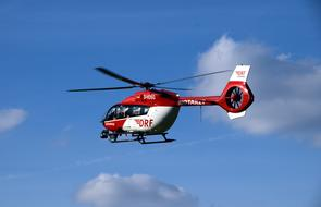 Helicopter Air Rescue red