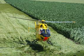 Helicopter Rescue green grass