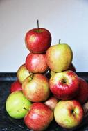 mountain of ripe apples