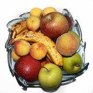 Fruit Banana Apple plate